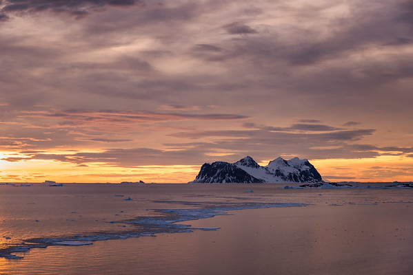 Jenny Island at sunset, Marguerite Bay, Antarctica