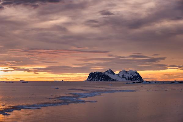 Jenny Island at sunset, Marguerite Bay, Antarctica