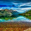 Colorful rocks at Lake McDonald