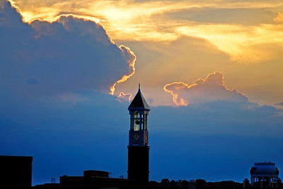 Sunset over Purdue University