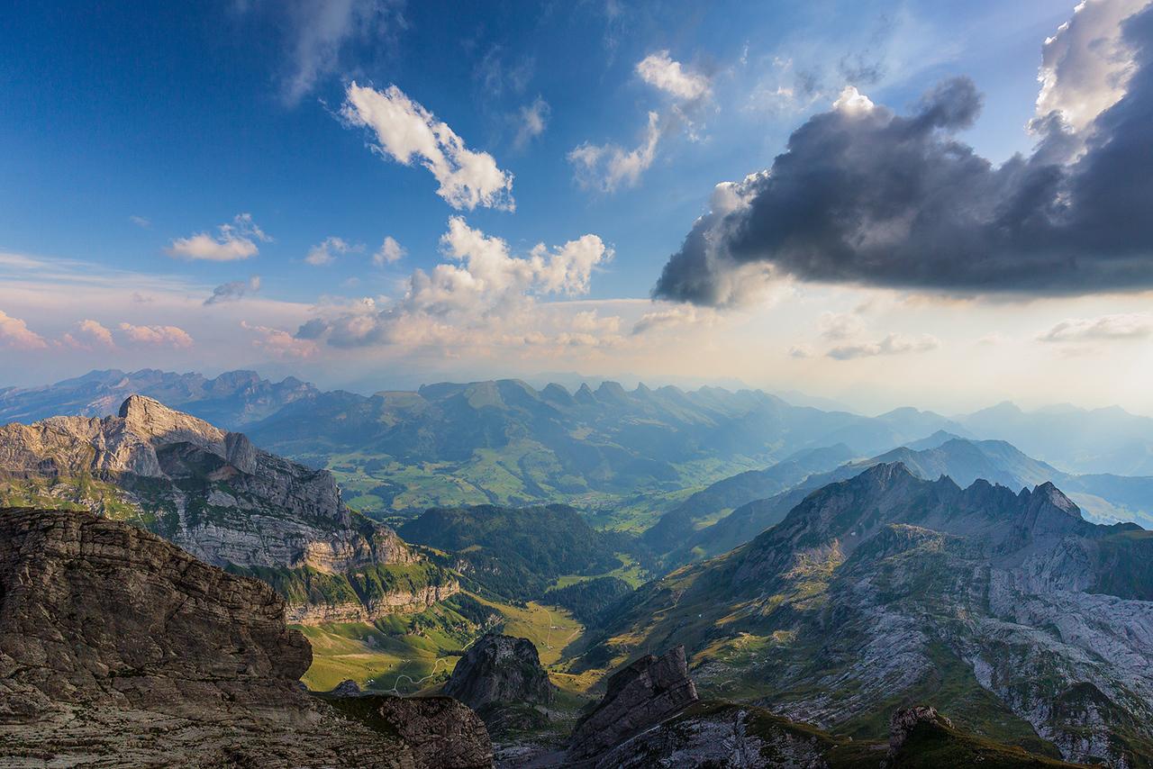 Säntis, santis, Switzerland, mountains, sky, hdr,