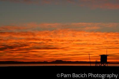 January Sunset over Catalina