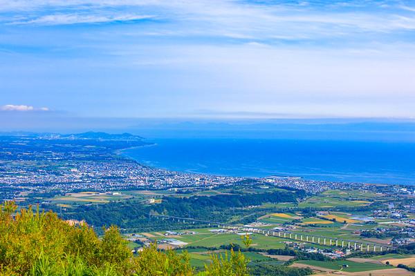 Muroran cityview from Lake Toya, Hokkaido