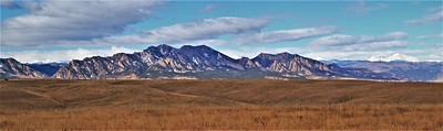 The Flatirons and Longs Peak