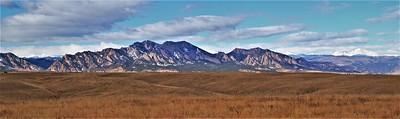 The Flatirons and Longs Peak