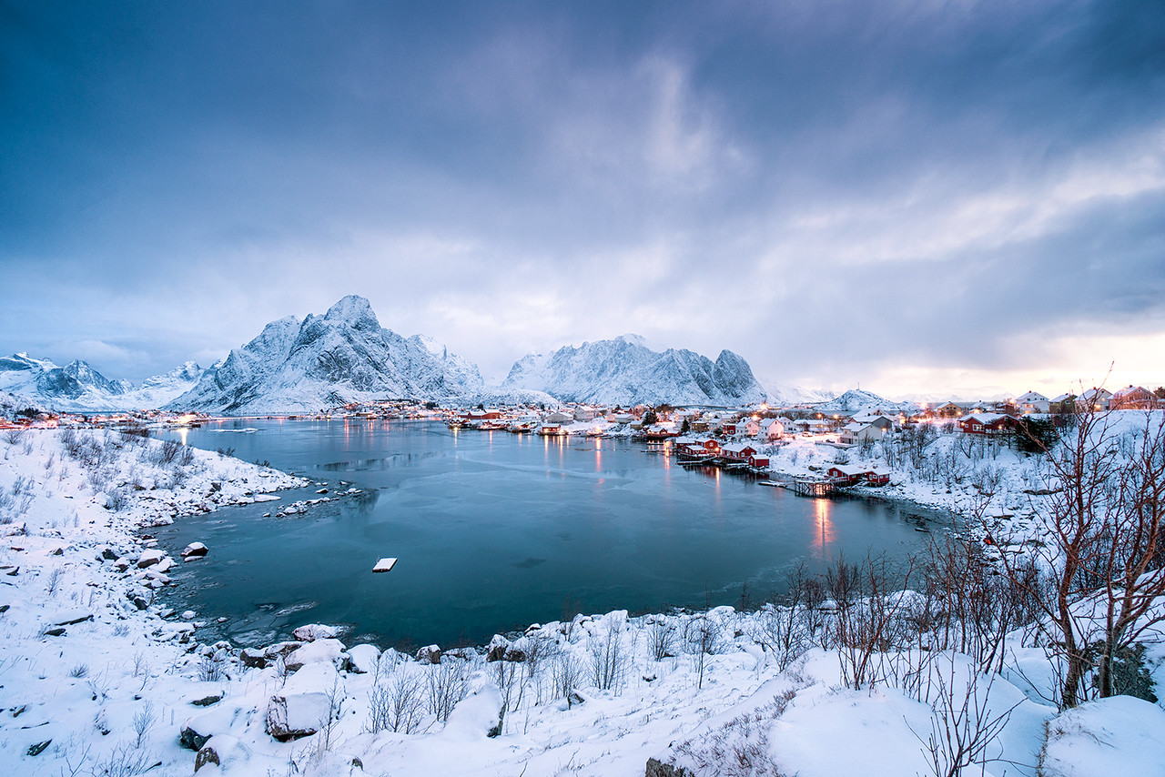 Reine, lofoten, long exposure, sunrise, hdr