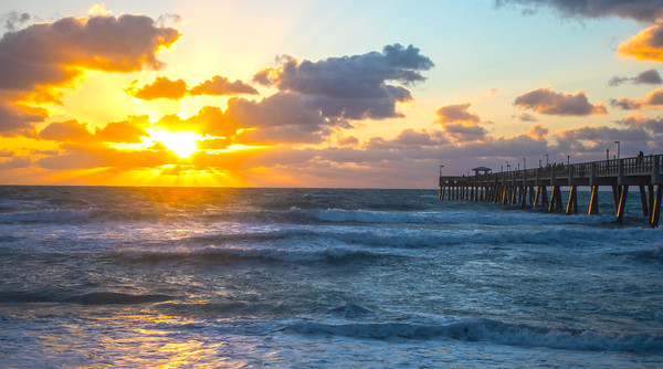 Dania Beach Pier sunrise-1742