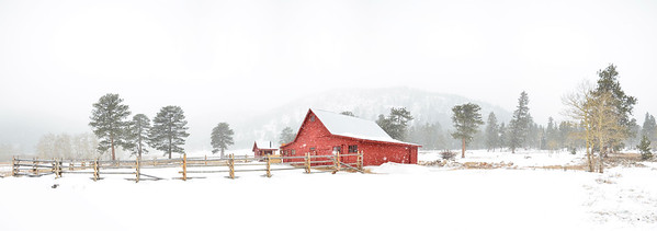 Snowshoing on Christmas Eve has been a family tradition for years.  On this one in particular we hiked back to the Delonde Barn at Caribou Ranch.  What started out as a clear sunny day, turned into a truely white Christmas and an amazing opportunity for photos.