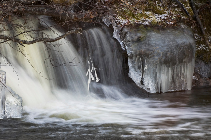 Icy Waterfall - Pinewa, Manitoba