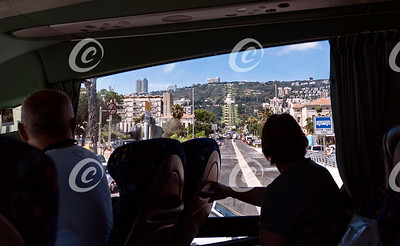 Tourists Viewing Haifa from the Bus