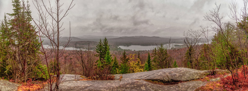 The Summit of the Adirondacks Bald Mountain on a cold and wet weekend.