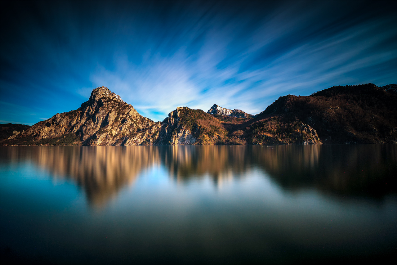 Traunsee, Austria, lake, mountains, reflection, 14 stop ND, long exposure, Vffoto, sony, sony a6500, sony 10-18