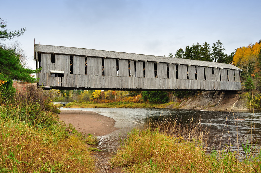 Covered Bridge Over the Hammond River - New Brunswick.