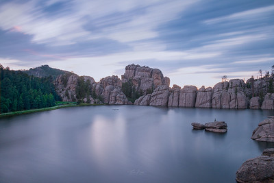 Blue Hour at Sylvan Lake.