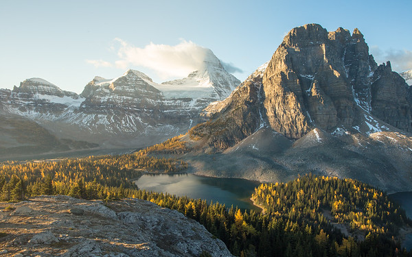 Mount Assiniboine during the morning