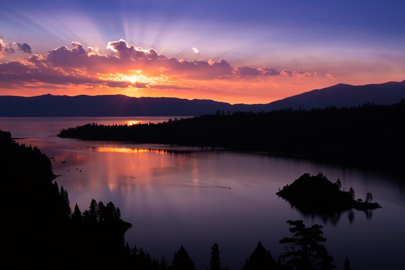 Sunrise in Emerald Bay, Lake Tahoe, California