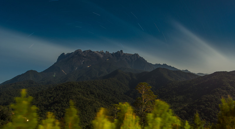 Mt Kinabalu at night. 1459 second exposure.