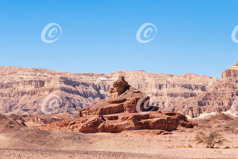 The Spiral Hill Formation at Timna Park in Israel