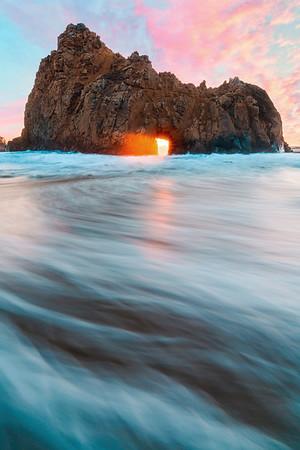 Key Hole Arch - Big Sur, California