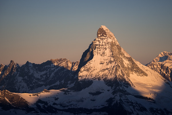 Matterhorn at sunrise from the Strahlhorn, Switzerland