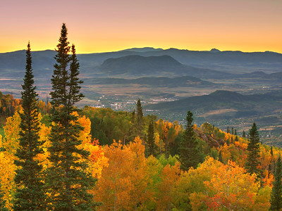 Steamboat's Sleeping Giant Sleeping in a Fall Sunset Limited Edition by Kat Walsh Photography