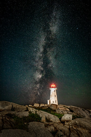 Peggy's Cove and the Milky Way
