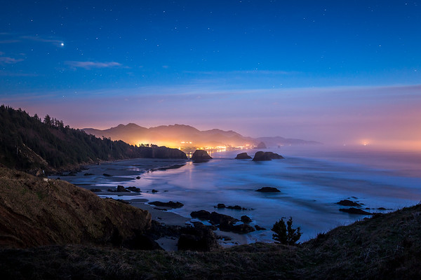 Cannon Beach at Night