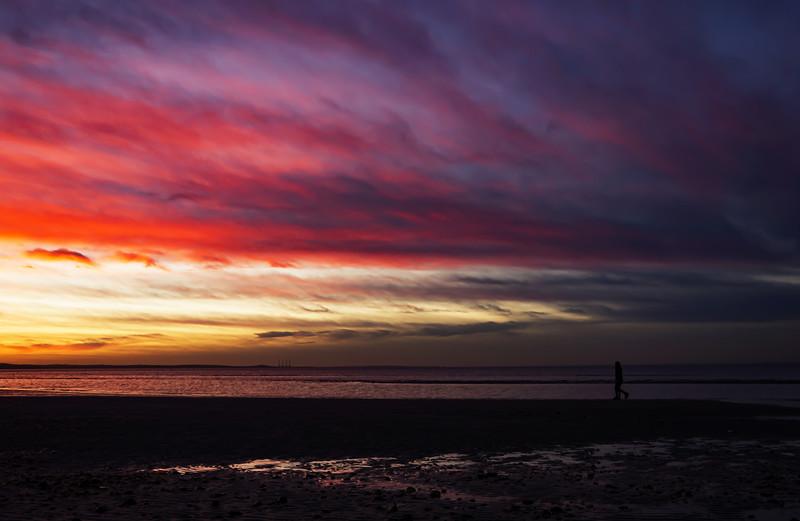 Sunset at the beach by Beata Obrzut