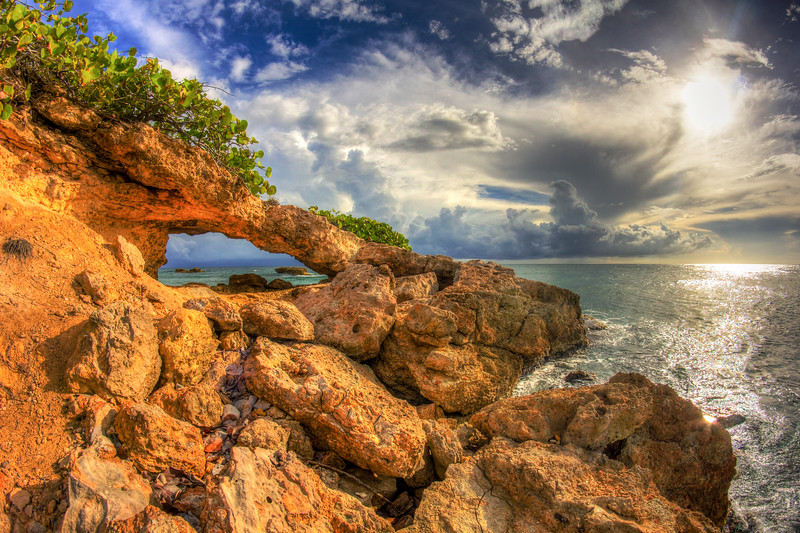 Natural Arch in Puerto Rico