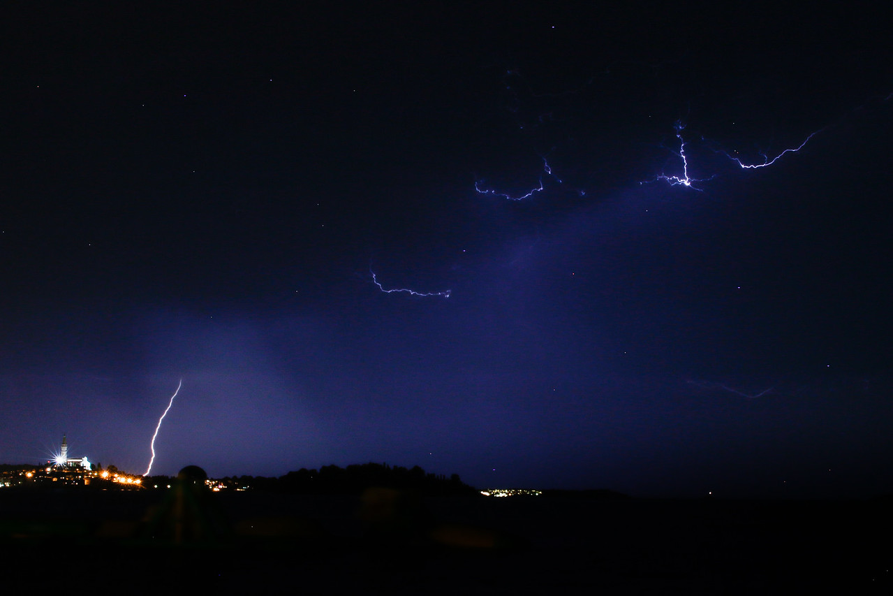 Lightning at Rovinj, Croatia