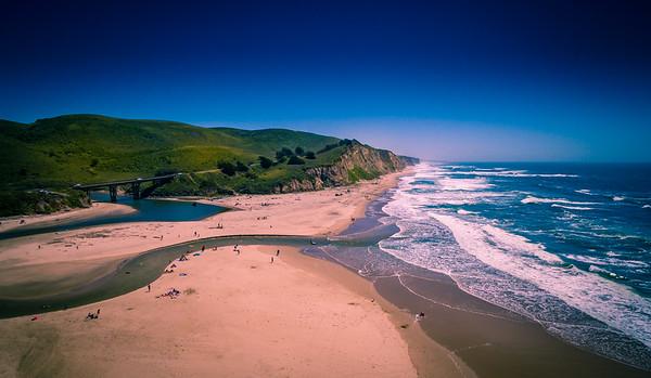 San Gregorio Beach California - Aerial