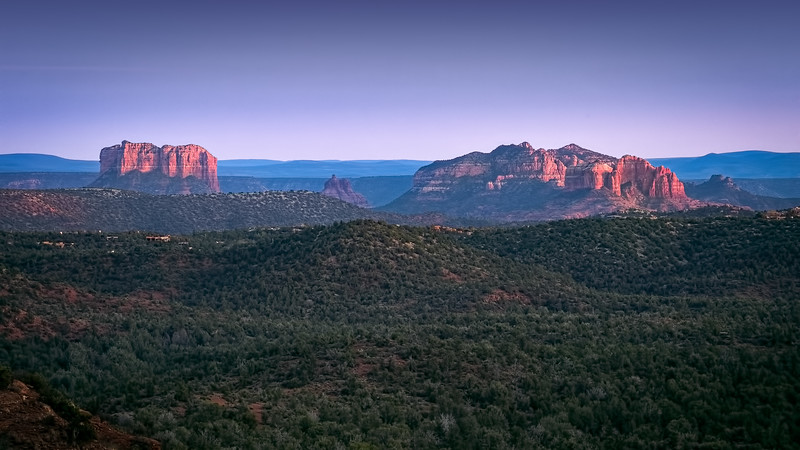 Sunset on Courthouse Butte, Sedona, Arizona