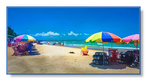 Sunny beach at Vung Tau