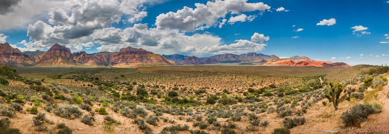 180 degree panoramic view from Red Rock Overlook