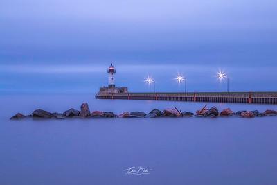 Lighthouse at Lake Superior, Duluth, Minnesota.
