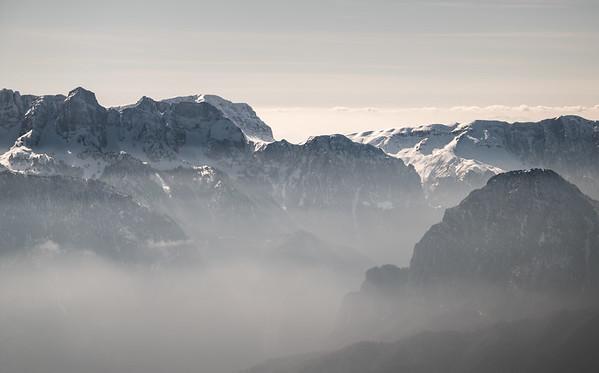 Timfi massif from Mount Smolikas, Greece