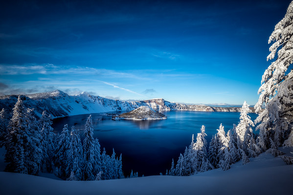 Blue Evening at Crater Lake