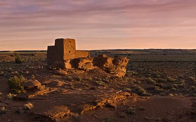 Wukoki Pueblo Sunset