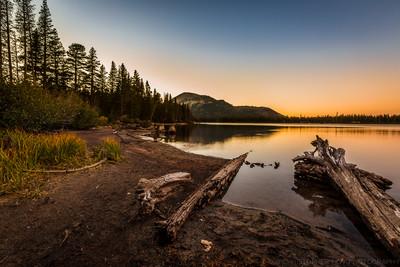 Sunset at Twin Lakes Mammoth