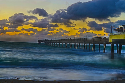 Dania Beach Pier sunrise-1734