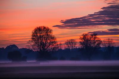 Sonnenuntergang in Alling