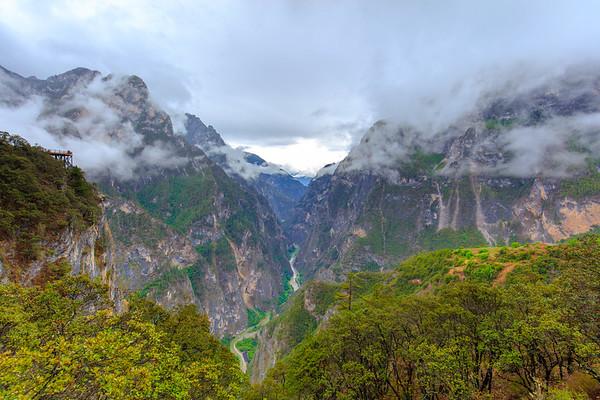 Canyon inside Canyon Canyon on Canyon-- Balagezong Grand Canyon National Park Shangri-La, Yunnan, China