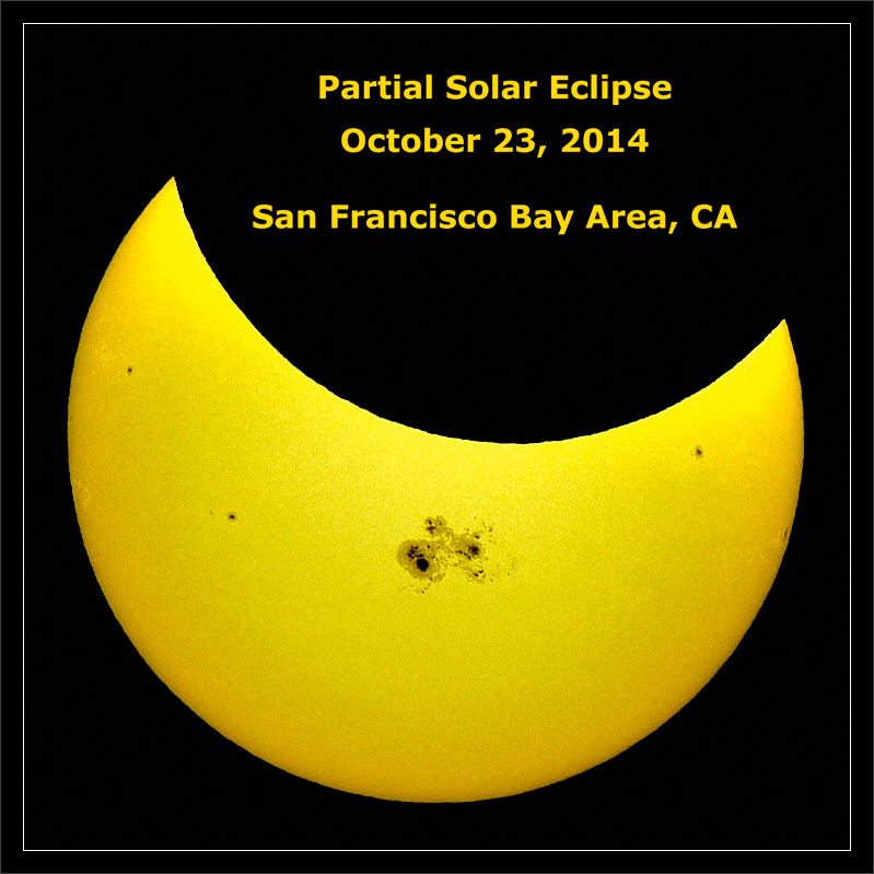 Partial Solar Eclipse: October, 2014