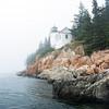 Bass Harbor Head Light on a foggy day, Acadia National Park, Maine