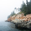 Bass Harbor Head Light on a foggy day, Acadia National Park, Maine