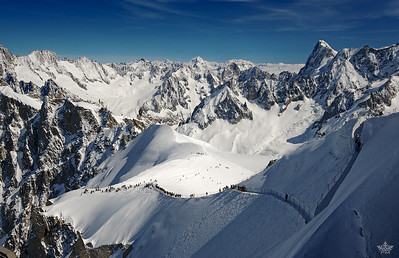 View from Aiguille du Midi, French Alps