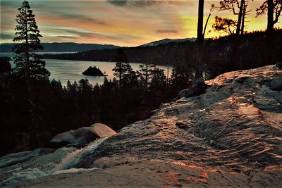 Lower Eagle Falls & Emerald Bay at Sunrise