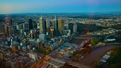 Bird eye view ... Melbourne, Australia