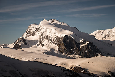 Signalkuppe, Nordend and Dufourspitze from the Alphubel, Switzerland