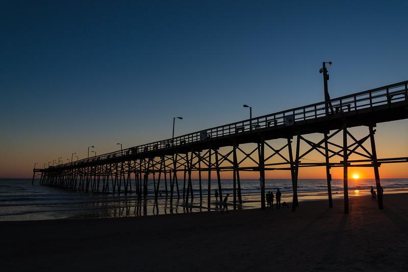 Sunset by the Oak Island Pier